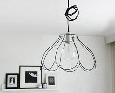 Lampshade frames wire lampshade frames lampshade frames we love the look of vintage style filament light bulbs and they work beautifully with a shapely exposed wire lampshade frame how to from october design keyboard keysfo Image collections