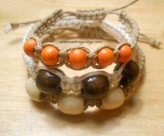 Fashionable Trendy  Macrame Unisex Bracelets Made by ArtOnAString, $7.95