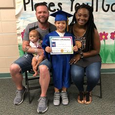 Gorgeous multiracial family at the Pre K graduation of their little boy Beautiful Love, Beautiful Family, Beautiful Black Women, Beautiful People, Cute Family, Family Pics, Family Goals, Couple Goals, Mixed Families