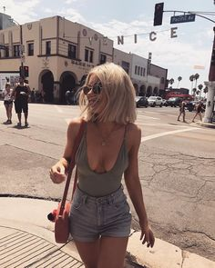 Solid High Cut One Piece Swimwear Summer Outfits, Casual Outfits, Cute Outfits, Look Fashion, Fashion Outfits, Womens Fashion, Laura Jade Stone, Looks Style, My Style