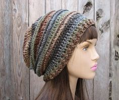 Crochet Hat - Slouchy Hat, Crochet Pattern PDF | EvasStudio - Craft Supplies on ArtFire