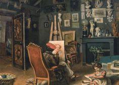 Primul Atelier al Pictorului la Paris by Theodor Aman