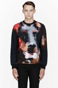 0b5851e93b24 Givenchy Black Digital Doberman Print Sweatshirt for men