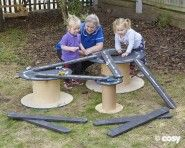 Small World - Early Years - Cosy Direct Cable Reel Ideas Eyfs, Continuous Provision Eyfs, Cosy Direct, Eyfs Outdoor Area, Outdoor Nursery, Cable Drum, Home Tutors, Nursery Activities, Outdoor Playground