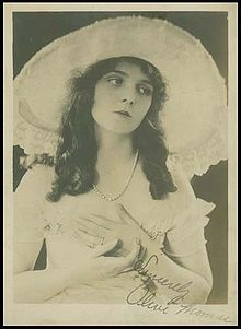 Olive Thomas (October 20, 1894 – September 10, 1920) was an American silent film actress and model. On September 10, 1920, Thomas died of acute nephritis in Paris five days after accidentally consuming mercury bichloride. Thomas' death has been cited as one of the first heavily publicized Hollywood scandals.
