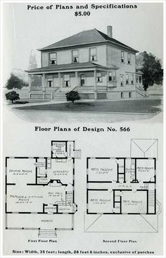 Design No. 566 THE RADFORD AMERICAN HOMES: 100 HOUSES ILLUSTRATED