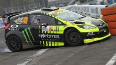 There may be a shortage of MotoGP™ track action at present for nine-time World Champion Valentino Rossi, but that didn't stop the Italian taking to the tarmac last weekend as he finished runner-up in the Monza Rally Show. Ford Fiesta St, Valentino Rossi 46, Camaro Car, Rims For Cars, Honda Civic Si, Mitsubishi Lancer Evolution, Drifting Cars, Monster Energy, Home