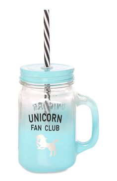 Primark - Blue Unicorn Club Jar Drinking Water Bottle, Drinking Jars, Best Water Bottle, Glitter Water Bottles, Cute Water Bottles, Unicorn Club, Unicorn Party, Unicorn Water Bottle, Bff Birthday Gift