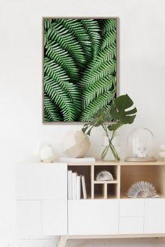 'Ferntree' Framed print 69cm x 97cm by White Moose Design