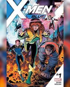 X-Men: Blue will be written by Cullen Bunn with art by Jorge Molina. The roster will consist of the five original, time-displaced X-Men: leader Jean Grey, Cyclops, Iceman, Beast and Angel. The twist? With Professor X dead, their mentor will be the...