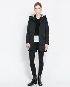 ZARA - WOMAN - PARKA WITH SHEEPSKIN LINING
