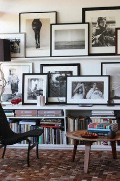 Fotowand Ideen und Beispiele Wohnzimmer