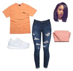"""""""Untitled #134"""" by yungjazzyhoe ❤ liked on Polyvore featuring Stussy, NIKE and MICHAEL Michael Kors"""