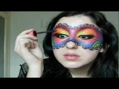 Colourful Mask Diy Fashion, Fashion Beauty, Masquerade Makeup, Face Painting Designs, Paint Designs, Mask Makeup, Special Makeup, Rainbow Makeup, Playing Dress Up