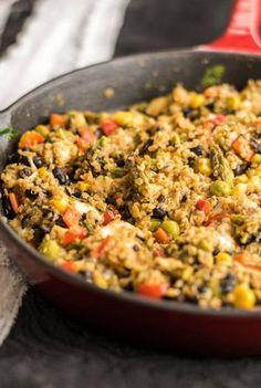 One Skillet Mexican Rice Casserole   FaveGlutenFreeRecipes.com