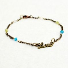 Make this simple DIY ankle bracelet a personalized piece using family birthstones!