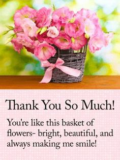 Gorgeous flower frame thank you card compassion is a gentle emotion theyre the next best thing to receiving a real basket of flowers and the sentiment the absolute sweetest thank you messages birthday m4hsunfo