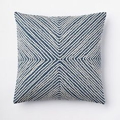 Diamond Dot Crewel Pillow Cover in Blue Lagoon from west elm