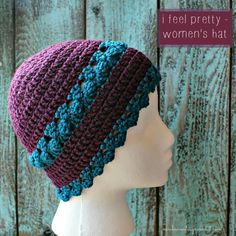 I Feel Pretty Women's Crochet Hat - Free Crochet Pattern.
