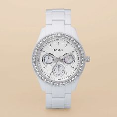 Fossil Stella Resin Watch - White