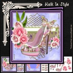 - Three page mini kit includes:- 8 inch square topper and two 3 inch square toppers, insert sheet and decoupage sheet with . Decoupage, Card Making, Walking, Kit, Birthday, Frame, Cards, Card Designs, Style