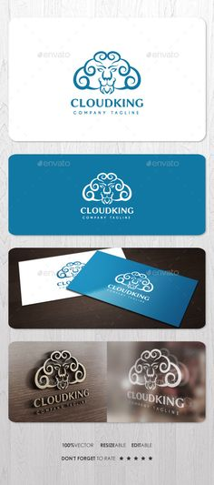 Cloud King Logo by ashenterprise Excellent pictorial logo for your business identity. Using free font. Files including EPS, AI, and PDF Help (including font link