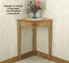 Corner Table Wood Project Plan $7.95