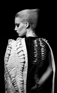 Sculptural Textures - a beautiful use of structured fabric manipulation to create dramatic, dimensional surface detail; fashion as art
