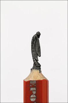 Packer Schopf Gallery - crayon and pencil carvings by Diem Chau