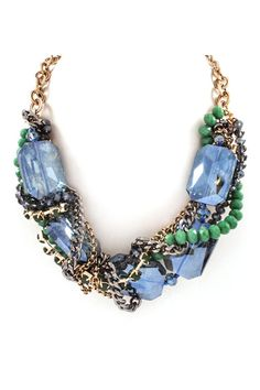 Sienna Necklace in Sapphire Crystal