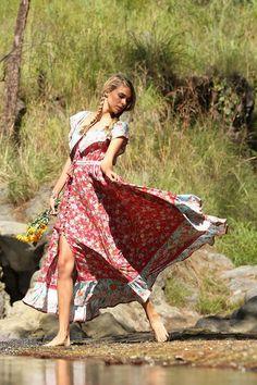 Fleepmart Casual Off the Shoulder Summer Bohemian Beach Dress Slash Neck Floral Printed Maxi Women Dresses Party Vestidos Verano 2020