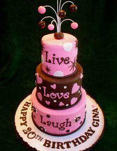 Live, love, laugh cake