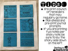 Today I'm here to share with you an easy and practical tip that can be used in your classroom.     I love printing on sticky notes! It is s...