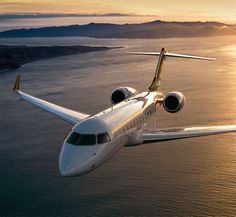Bombardier Global 5000 luxury business class jet - the charter plane that takes Larke from Chicago to Huntsville, AL.