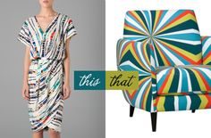 ...wear this Rachel Roy dress, decorate with that CB2 chair...
