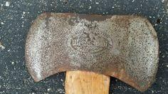 WEDGEWAY 2 Bit Ax Axe Head Morley Brothers Embossed Saginaw Michigan  Nice little Cruiser axe hung tight
