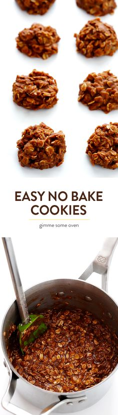 No Bake Cookies Recipe -- ready to go in less than 15 minutes from start to finish, and always SO tasty! | gimmesomeoven.com