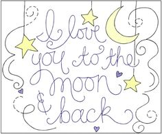 Love You to the Moon and Back Embroidered Pillow Tutorial - The Cottage Mama