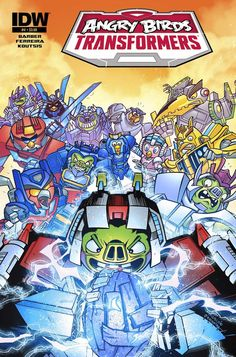 IDW Cover of the Day: Angry Birds Transformers #4