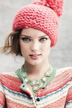Name one person who doesn't love a pommed hat?  #PomBeanie #Cozy #Anthropologie #GiveGreat