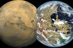 provocative-planet-pics-please.tumblr.com Mars'in şimdiki ve geçmişteki hali  #old #mars #KevinGill bir program yardımıyla #Mars in eski görünümünü atmosferinin okyanuslarının bitki örtüsünün var olduğu zamanlar  #space #planet #planets #astronomi #cosmos #astronomy #nasa #spacelove #see #ilim #bilim by uzay_asktir https://www.instagram.com/p/BEp1-atsO2q/