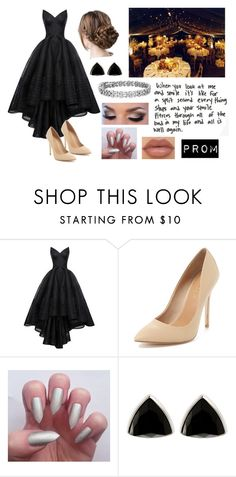 """Prom - InesFragosa!!!!"" by dimibra ❤ liked on Polyvore featuring Zac Posen, Maiden Lane, NYX, Henri Bendel and Blue Nile"