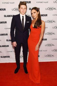 Brooklyn Beckham with his mother Victoria Beckham