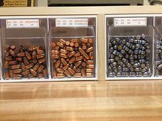 www.pinterest.com/1895gunner/ Reloading Bench - Bullet Storage - Candy Store | 1895Gunner's Reloading Bench #reloading