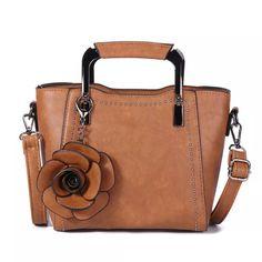 d5ab8e65c5a Bolsa Mini Retro Transversal Modelo de Rosa PU Couro - NewChic Móvel Mini  Crossbody Bag