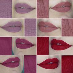 Escala de rosados com #batomLia / #batomVictoria / #batomCarol / #batomBruna Qual o seu favorito? :)