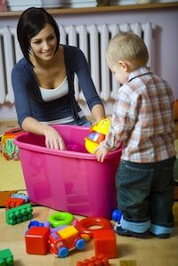 Giving your child chores from a young age helps her learn responsibility and avoid a false sense of entitlement, all while allowing her to be an active part of the household. Even toddlers can get in on the action, establishing a routine of helping out around the house with a list of responsibilities that can increase as he gets older.
