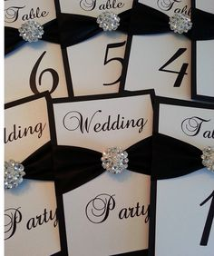 Wedding Table Number Cards by TakeNoteCreations on Etsy