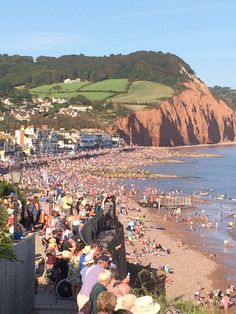 Sidmouth awaits the arrival of the Uk Holidays, Local Events, Air Show, British Isles, Devon, Watercolour, Dolores Park, England, Places