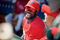 Jimmy Rollins at Phillies spring training.